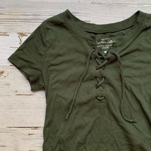 Hollister Must Have Collection Lace Up Top